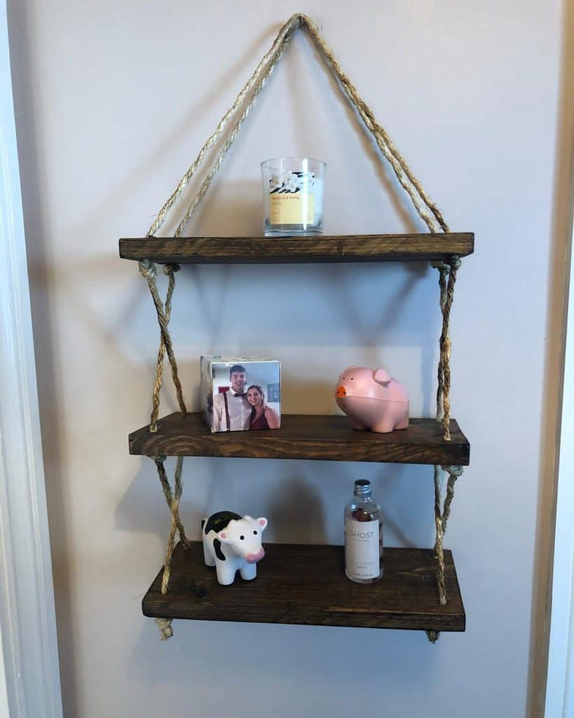 Hanging Shelving Ideas woodenbyannie