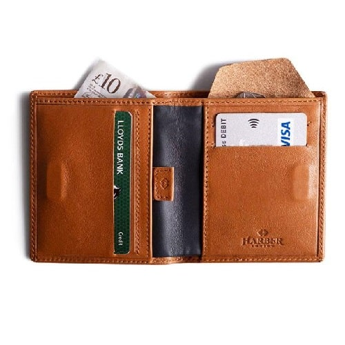 Harber London Bifold Leather Wallet with RFID Protection