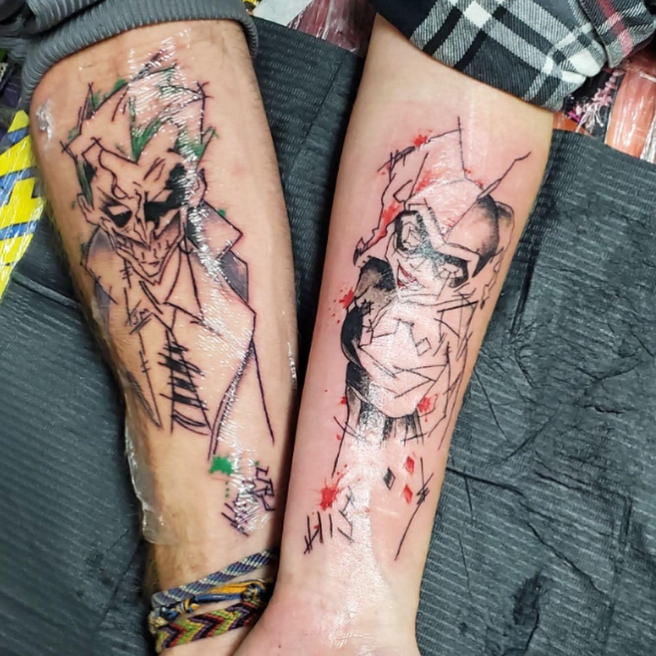 Couple Harley Quinn Tattoo Ideas -teeceesworld