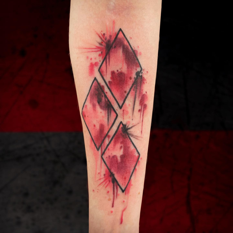 Diamond Harley Quinn Tattoo Ideas -timbecktattoos