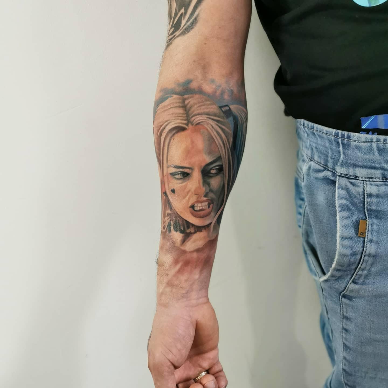 Forearm Harley Quinn Tattoo Ideas -patryk.friday