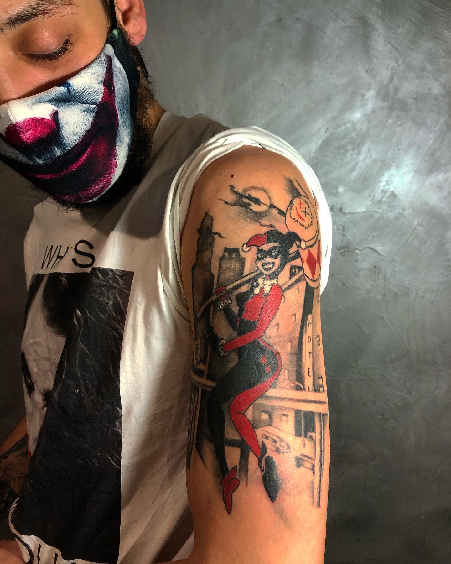 Original Harley Quinn Tattoo Ideas -chezlouloutattoo