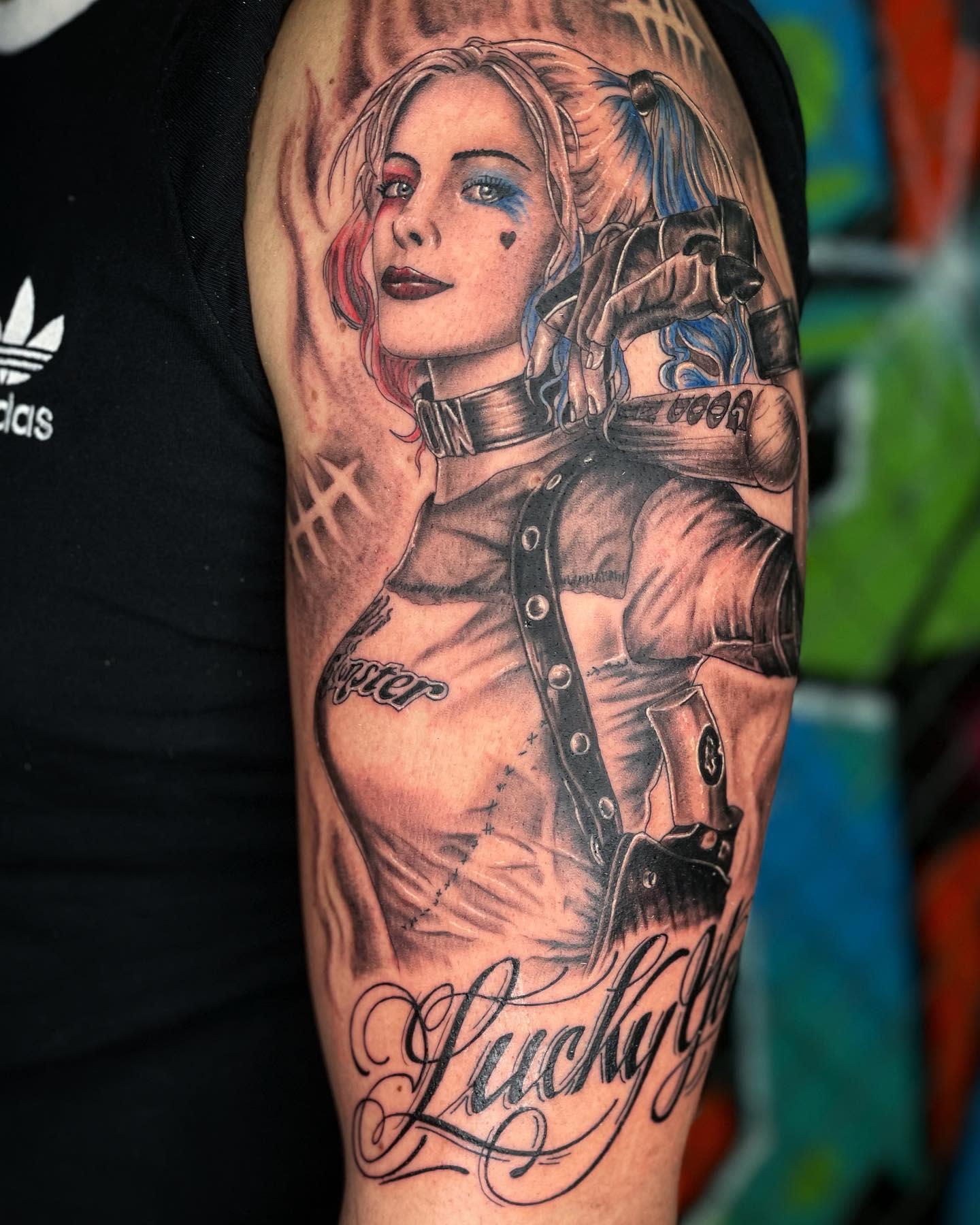 Realistic Harley Quinn Tattoo Ideas -inkwildfx