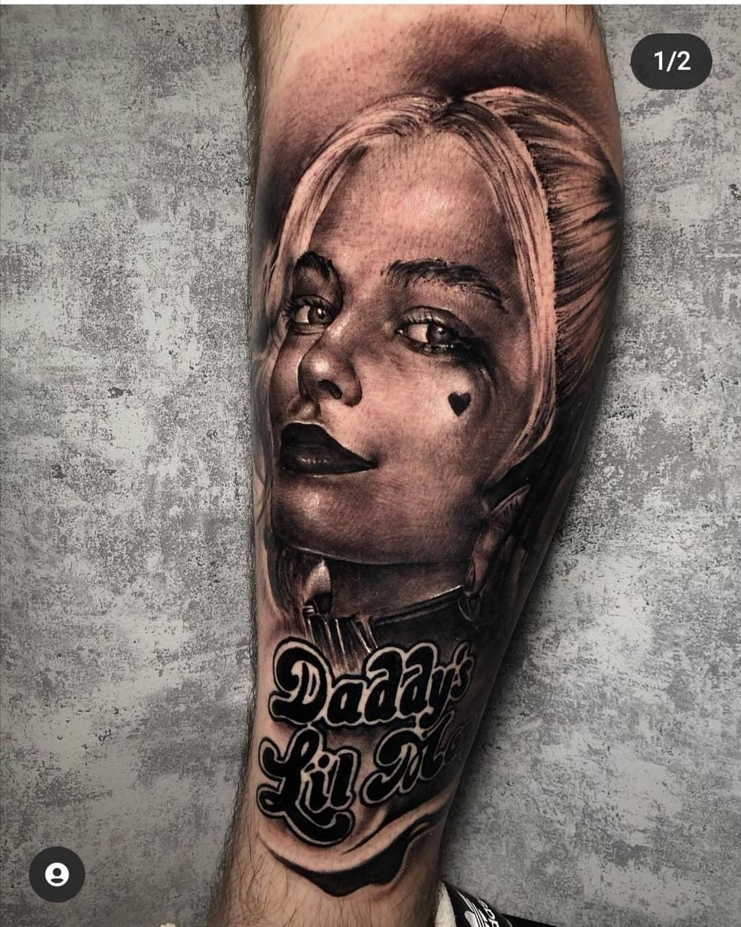Realistic Harley Quinn Tattoo Ideas -sinsandsigns
