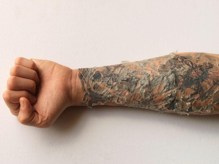 Healing Tattooed Skin Small Forearm