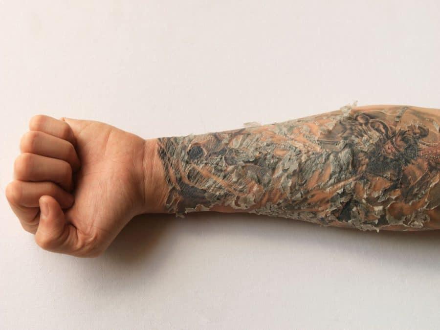 Healing-Tattooed-Skin Small Forearm