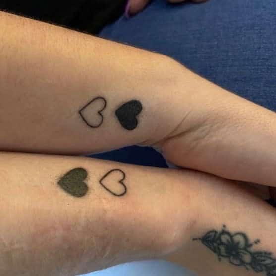 Heart Matching Tattoos hannah_williamson1993