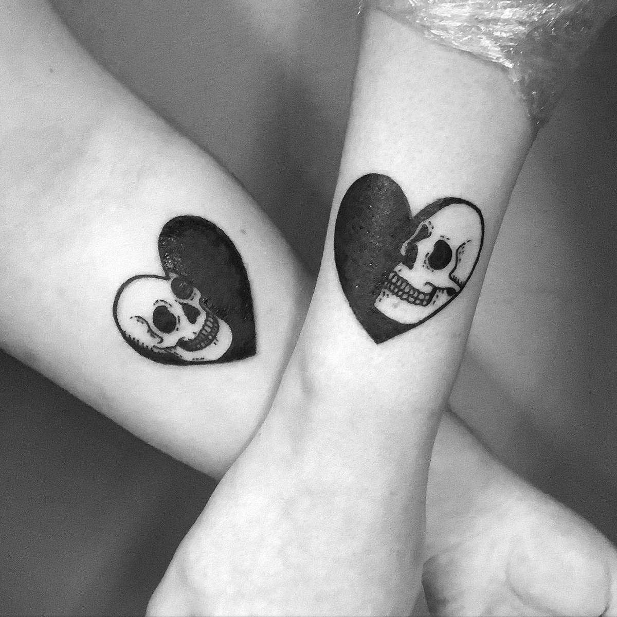 Heart Matching Tattoos iiris_ink