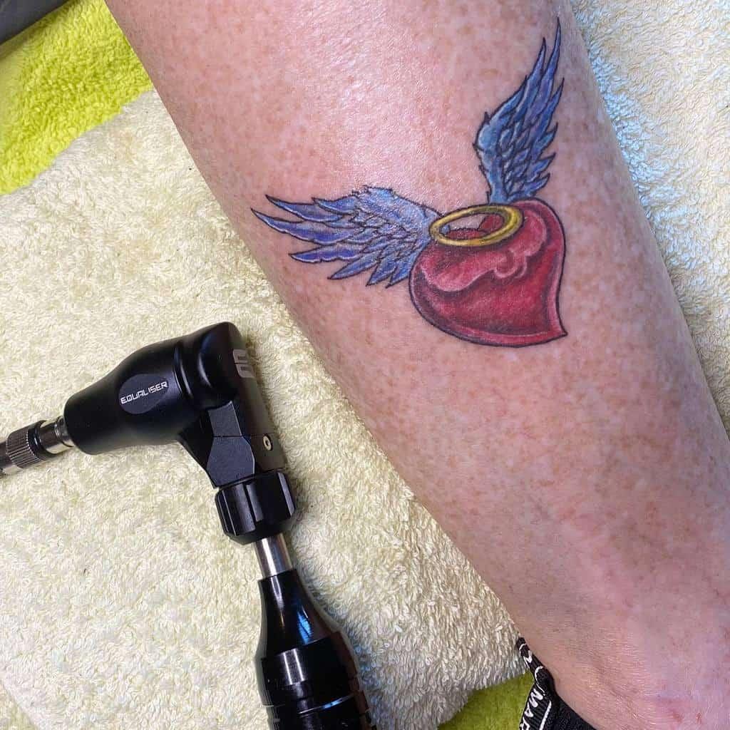 Heart With Angel Wings Tattoo blok_tattoo