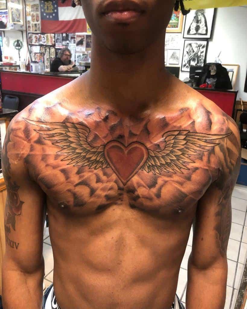 Heart With Angel Wings Tattoo tattoodavidc