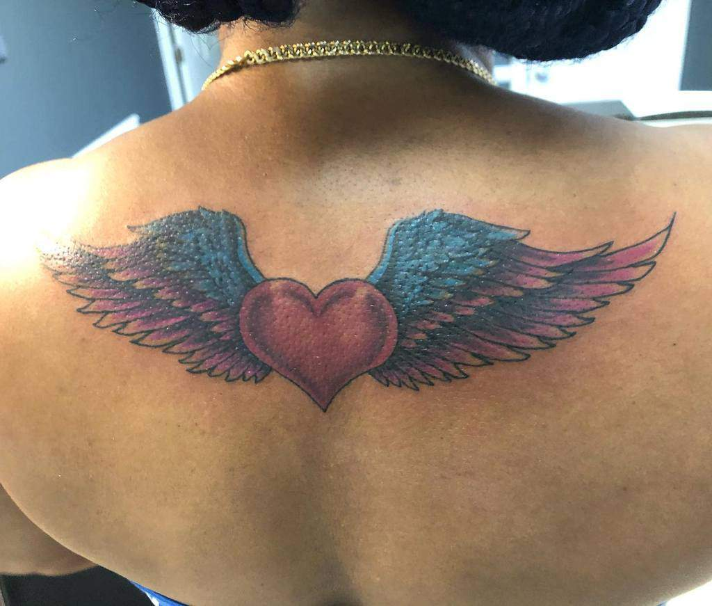 Heart With Wings Back Tattoo cfinnni