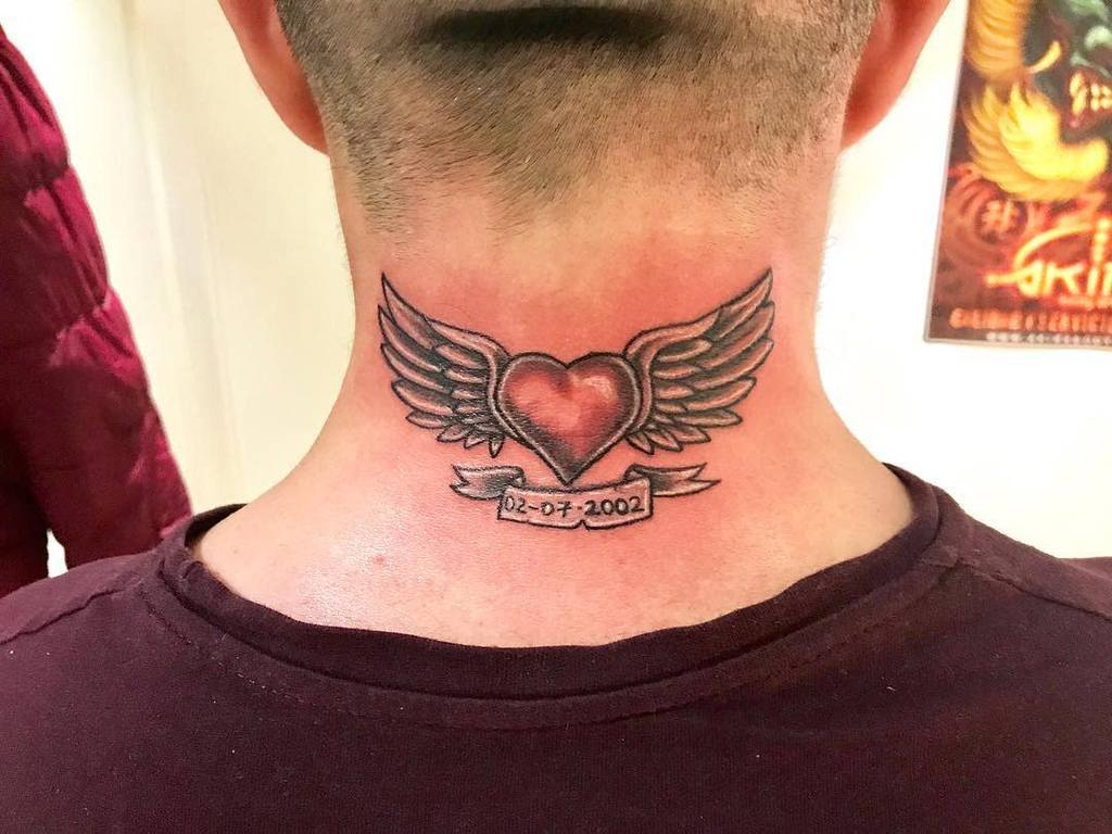 Heart With Wings Back Tattoo javiorozcotattoo