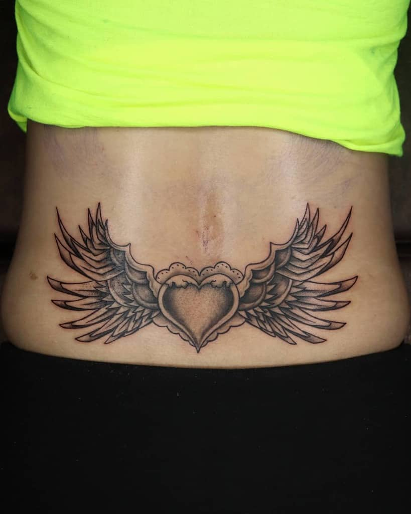 Heart With Wings Back Tattoo the_shade_tattoo_studio