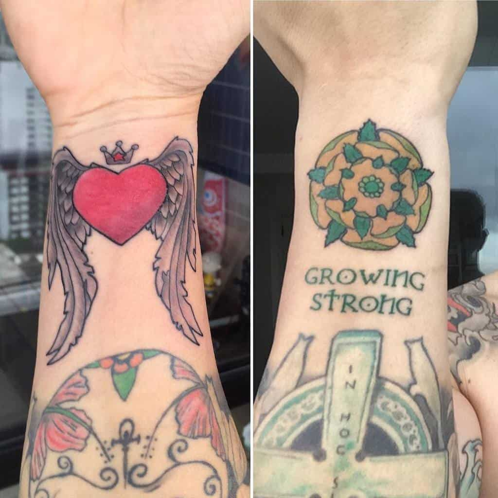 Heart With Wings Wrist Tattoo tico_rocha