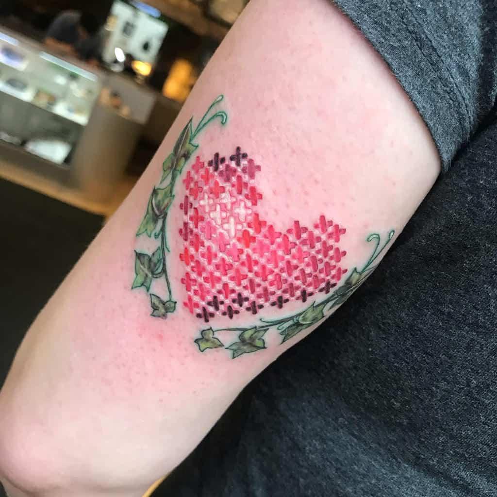 Heart Tattoos Cross Stitch Dawn Radford