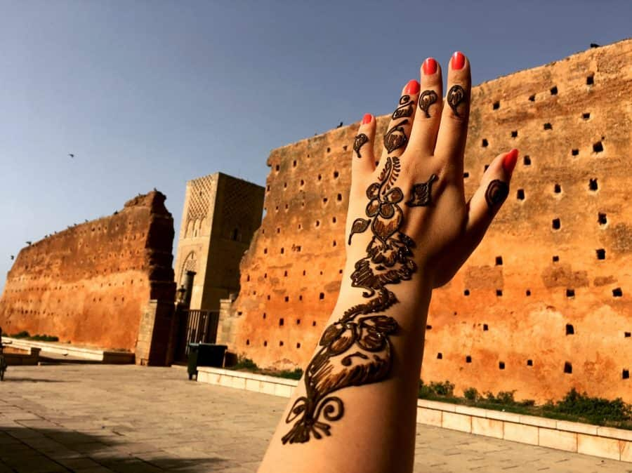 Henna Hand And Arm Outside Luxor Temple Entrance