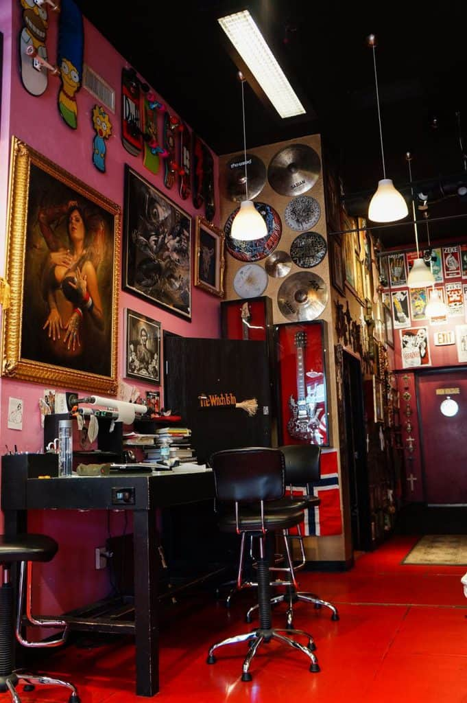 High Voltage Tattoo Shop Inside