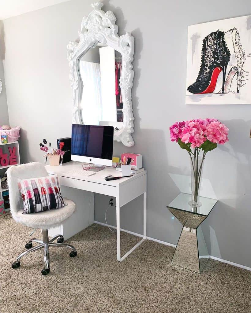 Home Computer Room Ideas __sincerelytiffany