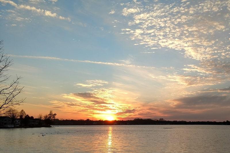 Winona,Lake,,Indiana,At,Sunset