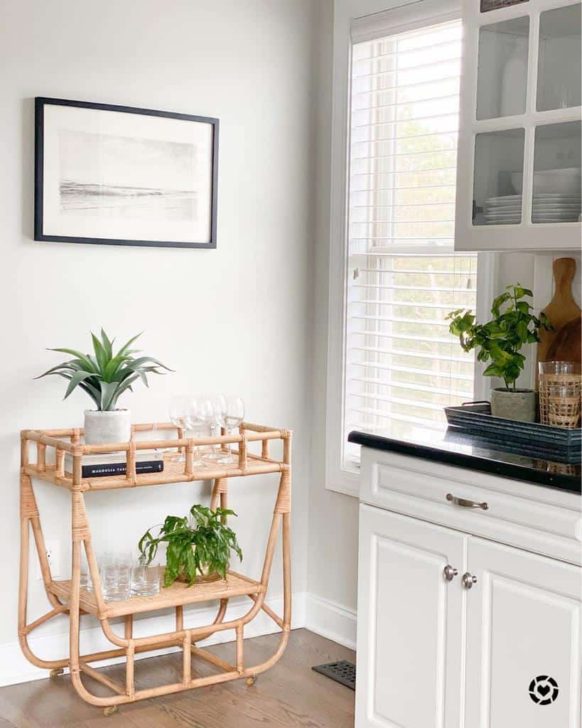 Industrial Bar Cart Ideas -coastal_cass