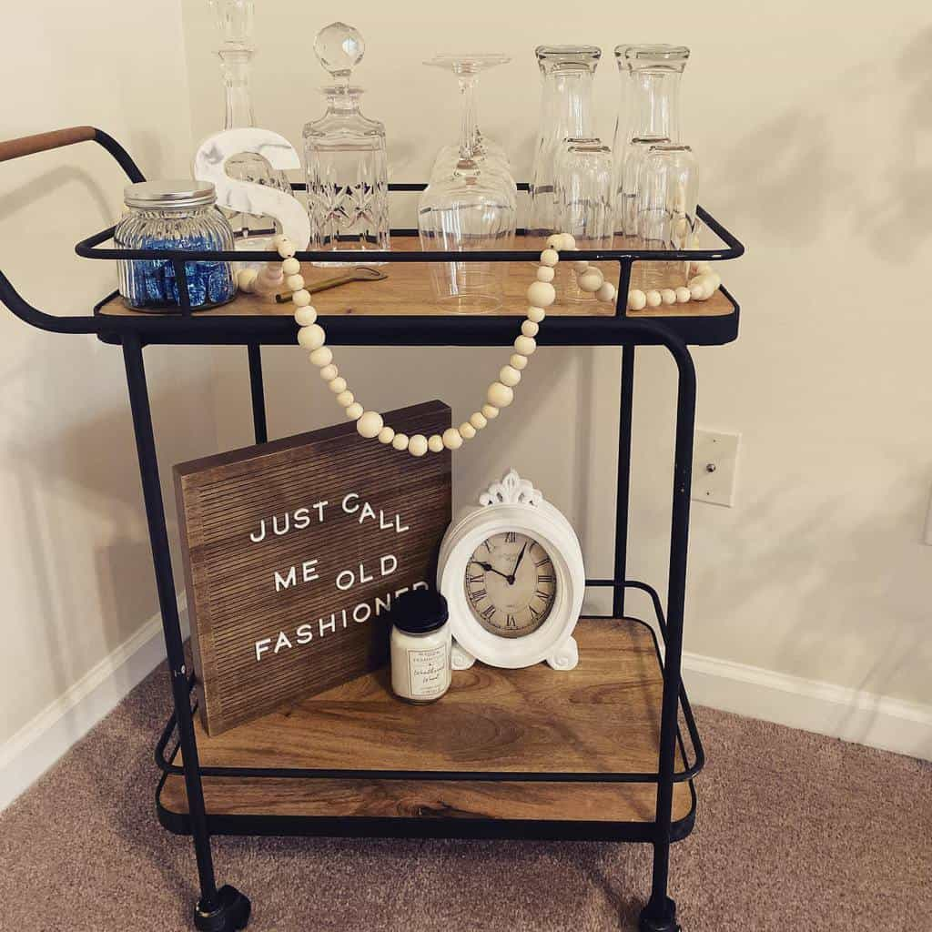 Industrial Bar Cart Ideas -single.in.the.suburbs