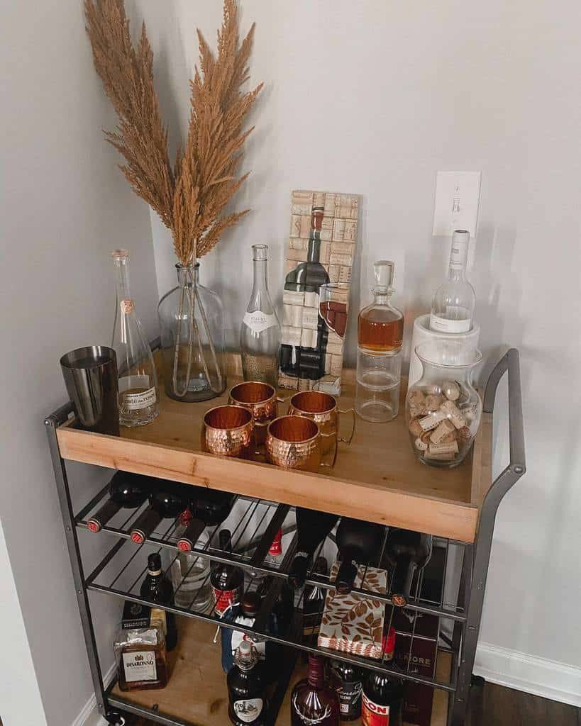 Industrial Bar Cart Ideas -thecarrillocasa