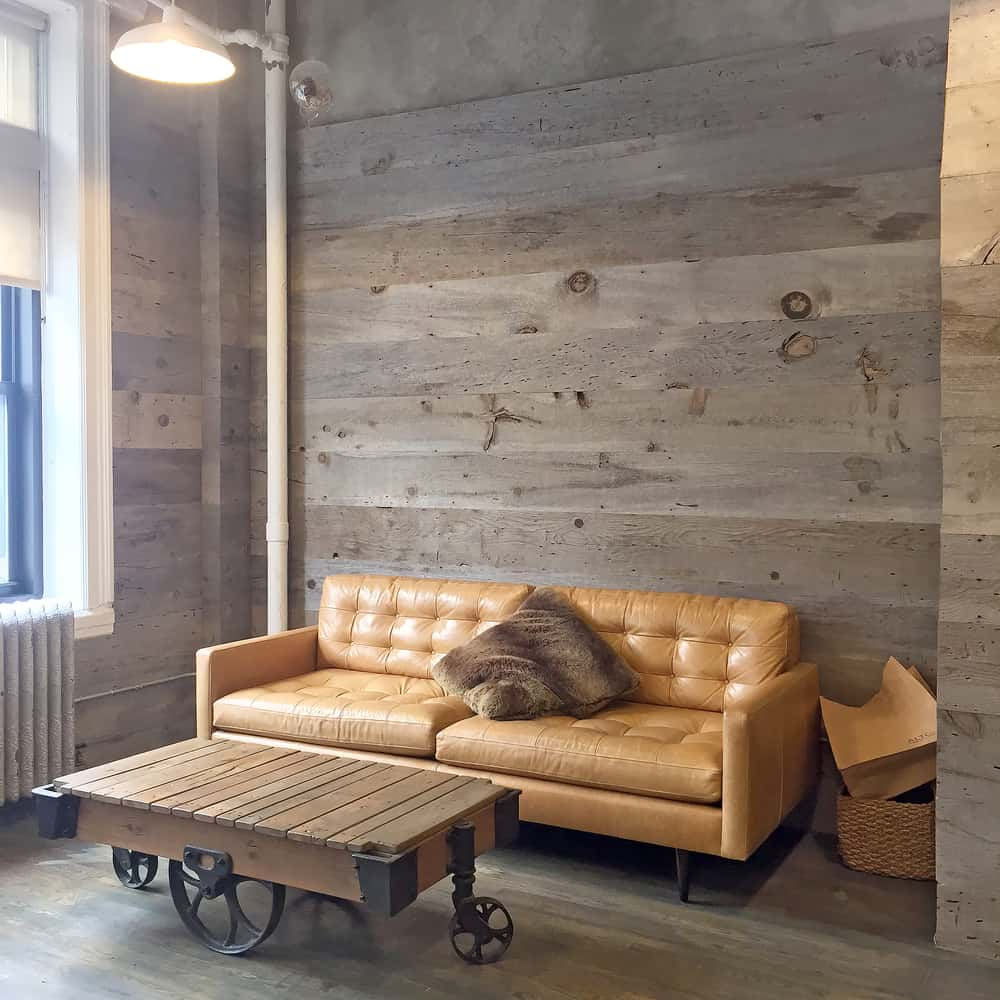 Rustic,Coffee,Table,And,Cozy,Lounge,Space,With,Wooden,Walls