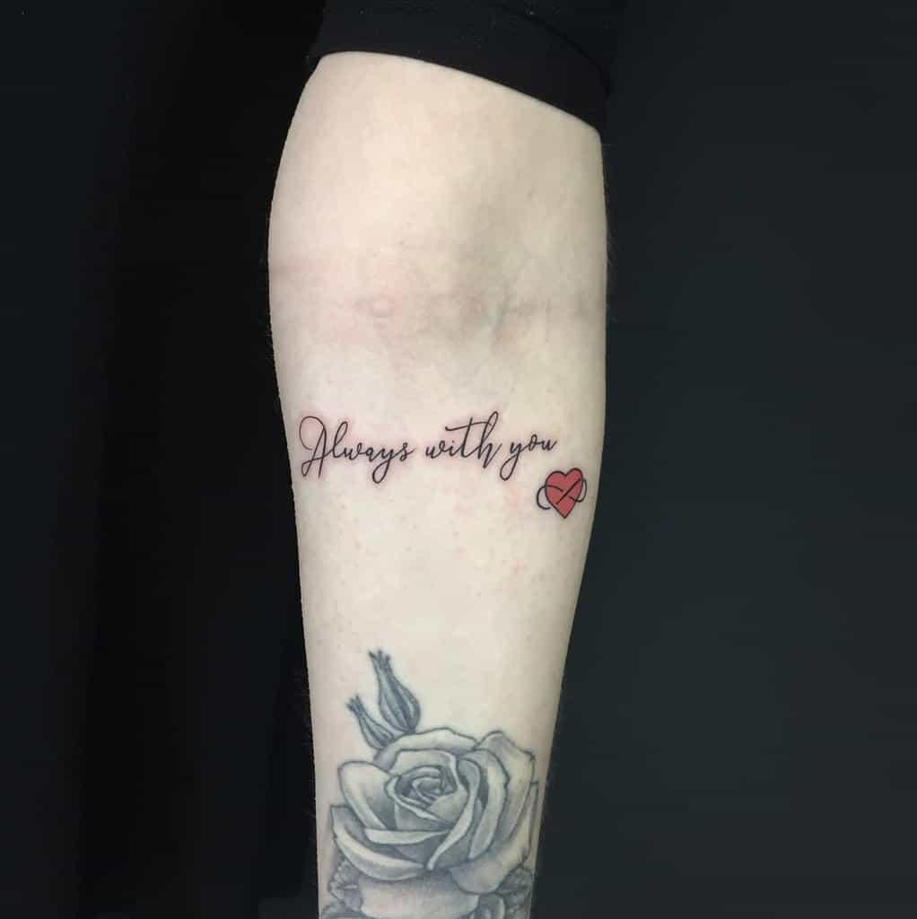 Infinity Heart Forearm Tattoo nerdymatch_ink