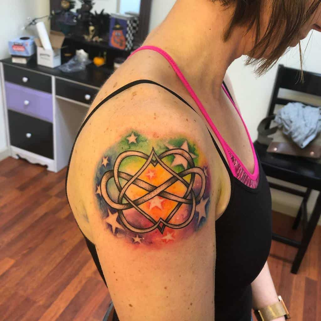 Infinity Heart Watercolor Tattoo starby5