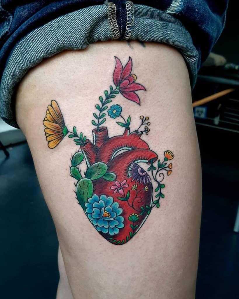 Innovative Heart Tattoo Pablorayotatuaje