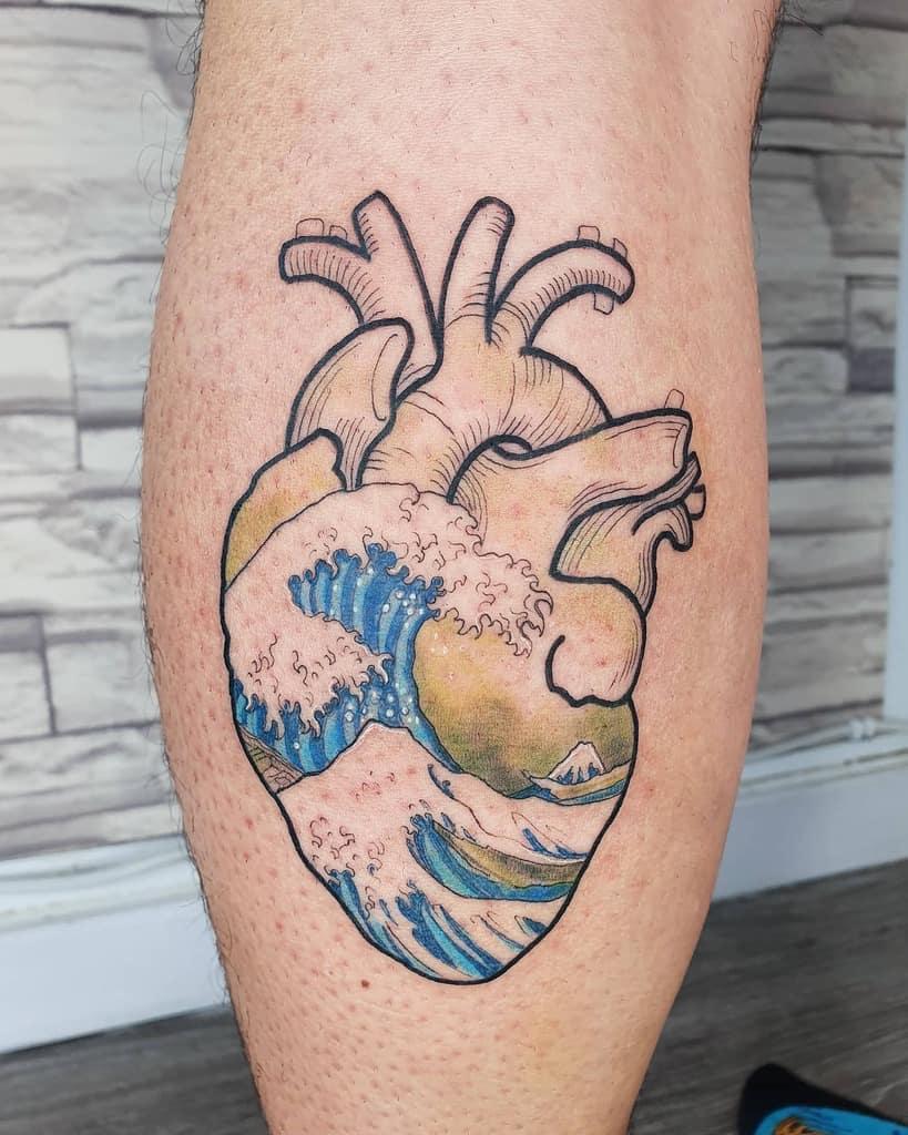 Innovative Heart Tattoo Saruman.aller.tattoo