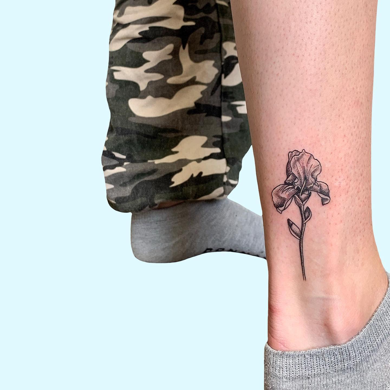 Iris Ankle Tattoo -daisyhestertattoo
