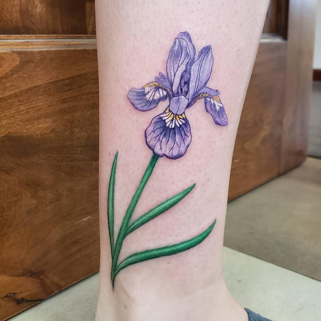 Iris Ankle Tattoo -slimjonesink
