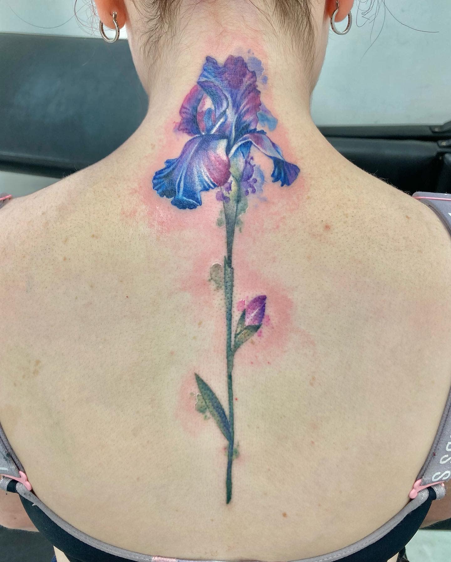 Iris Back Tattoo -caseyjones_tattoos