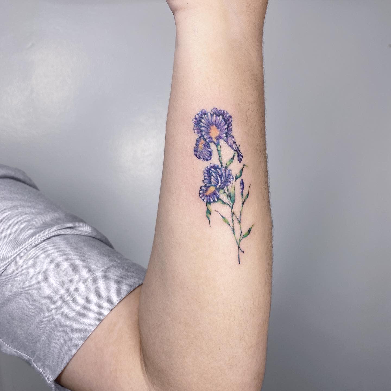 Blue Iris Tattoo -theuncannie