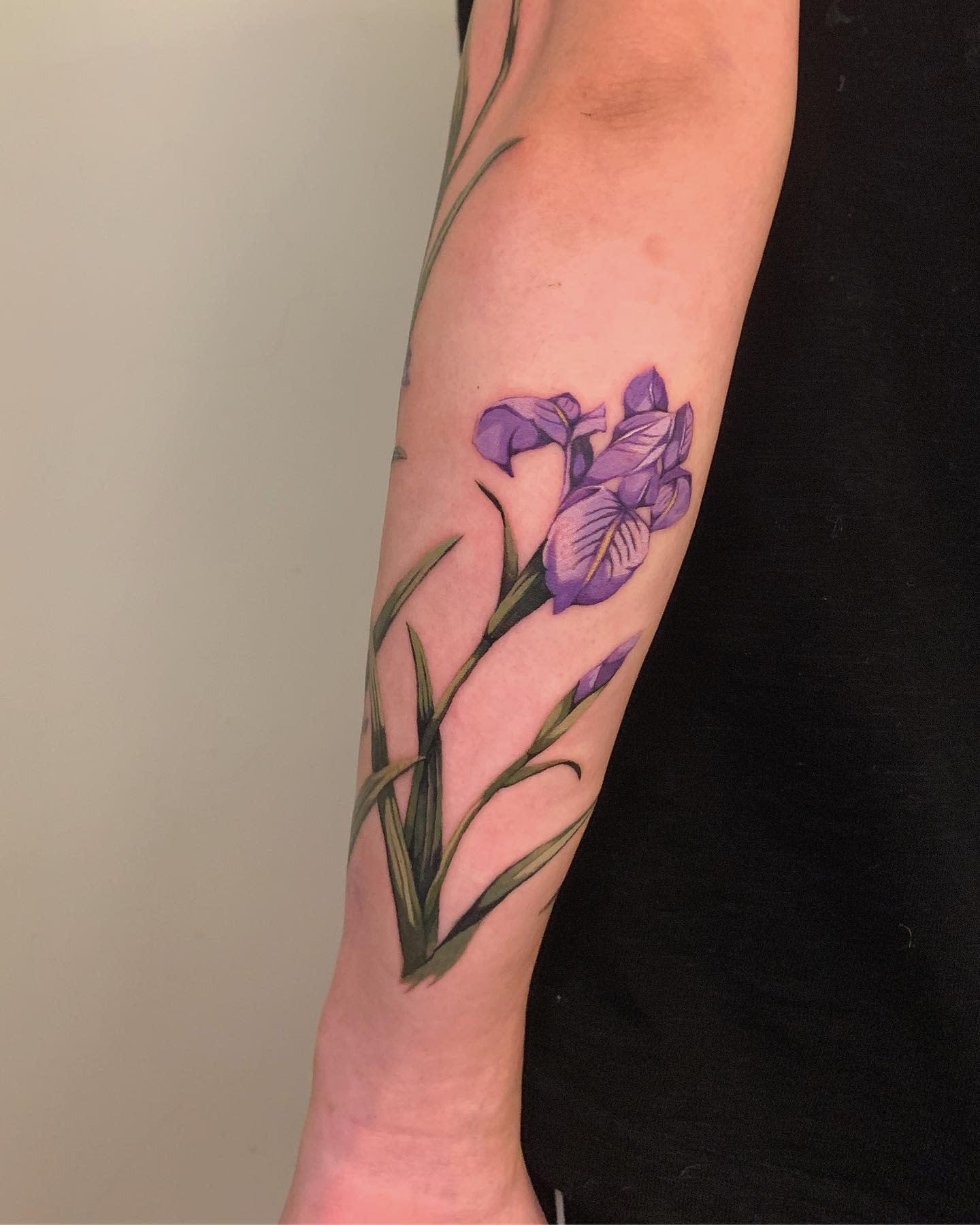 Iris Forearm Tattoo -___soil