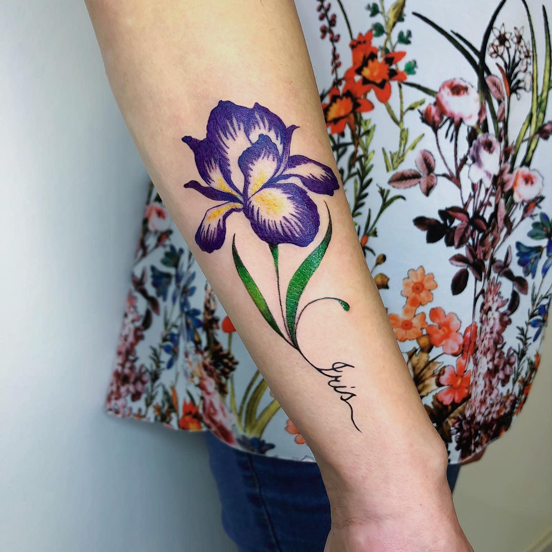 Iris Forearm Tattoo -gessica_raven