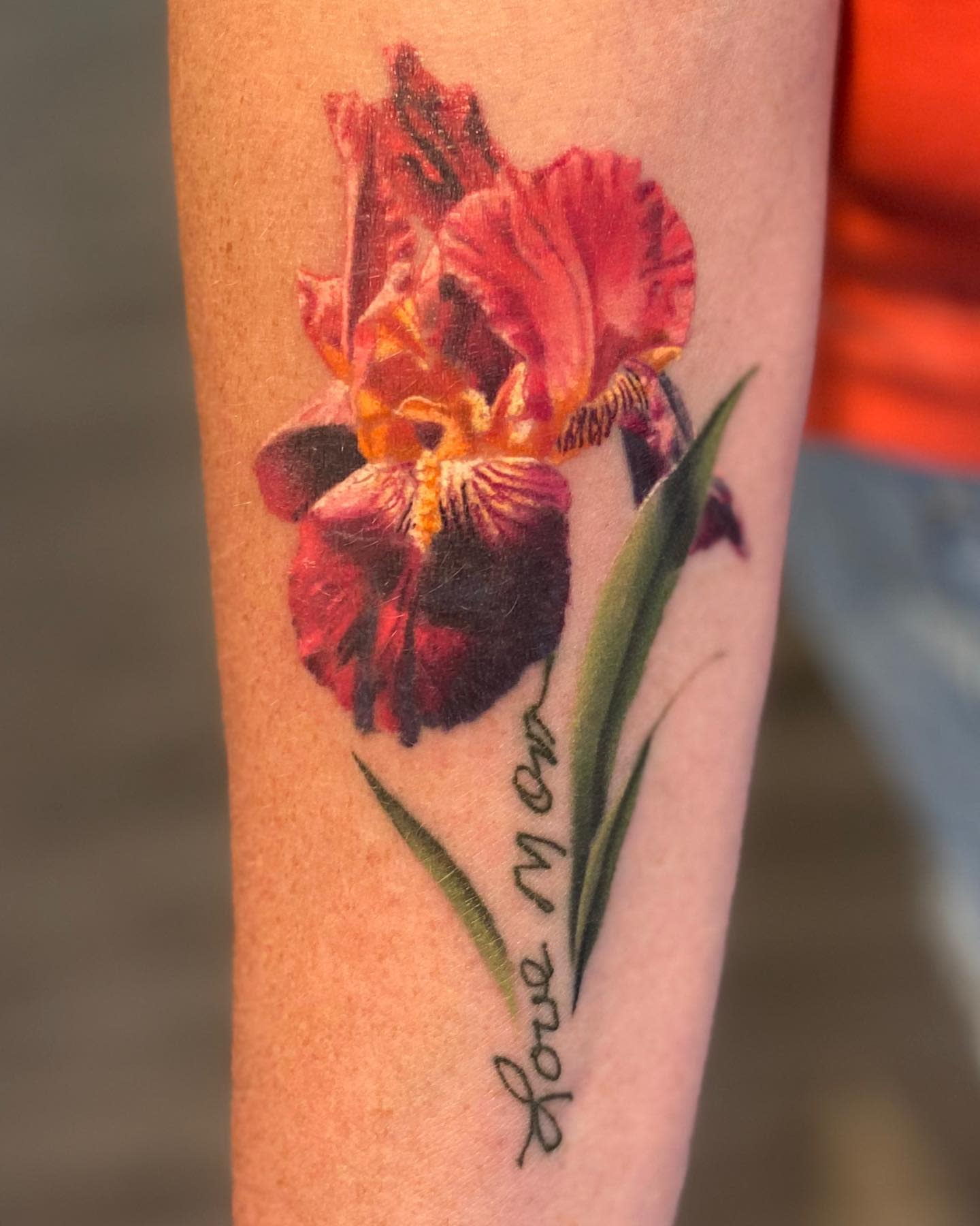 Realistic Iris Tattoo -evanchandlertattoo