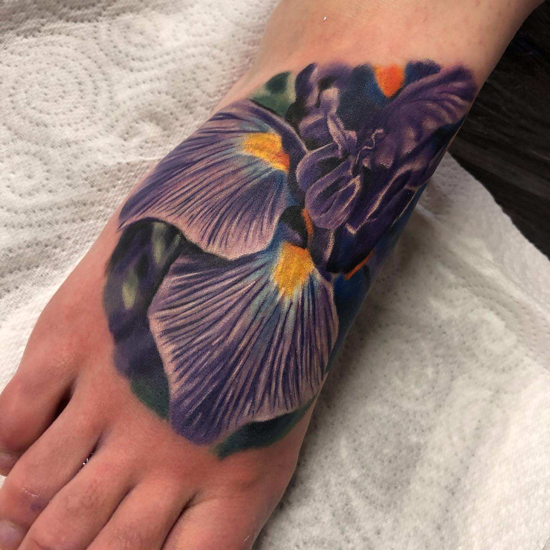 Realistic Iris Tattoo -garydoestattoos