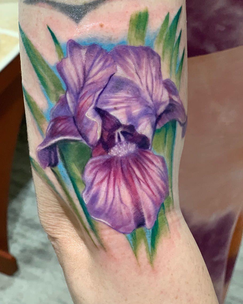 Realistic Iris Tattoo -merckmike
