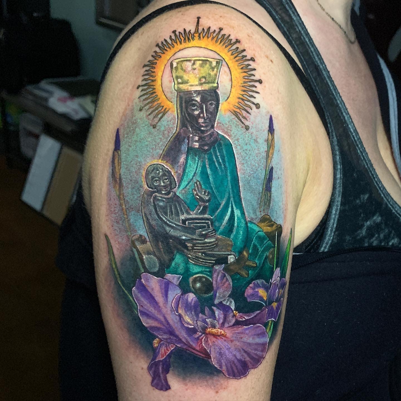 Iris Shoulder Tattoo -aldo_gallegos