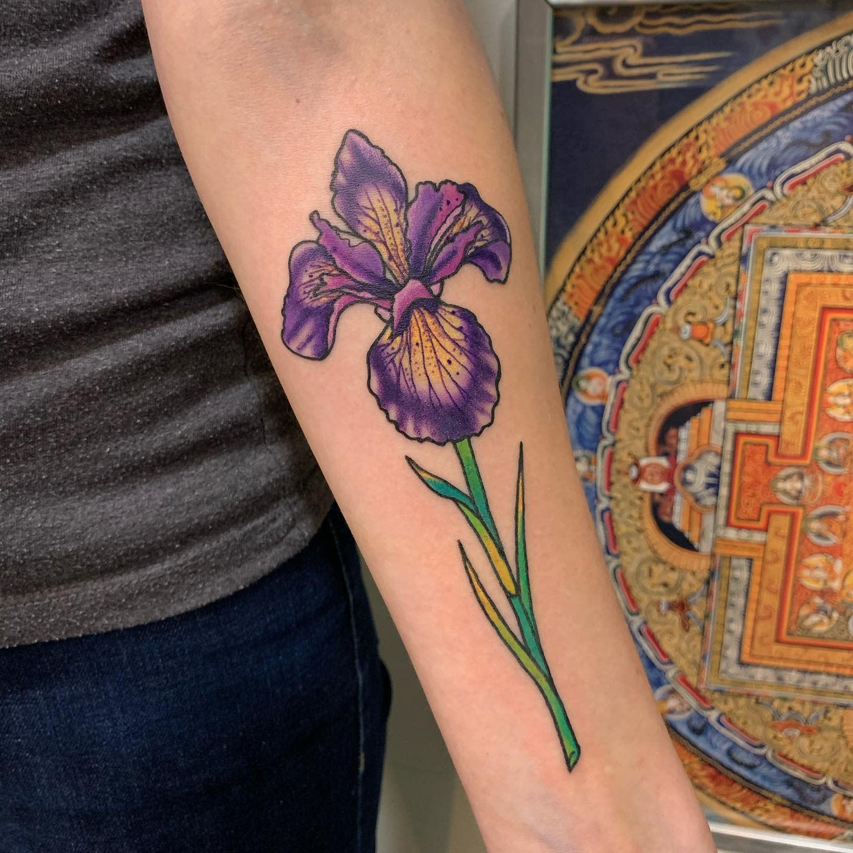 Violet Iris Tattoo -magdalena.mardini