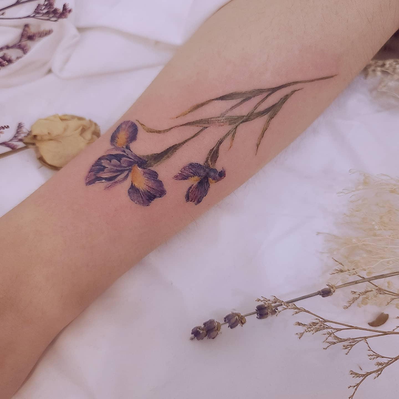 Violet Iris Tattoo -ssukim_tattoo