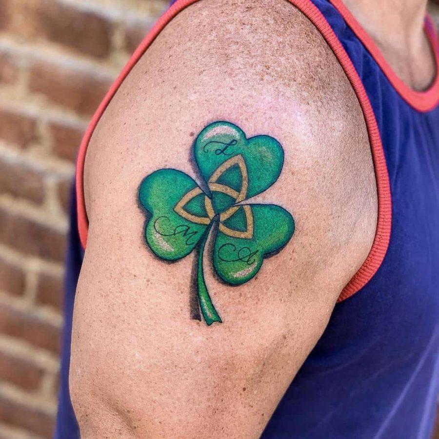 Irish Arm Shamrock Tattoo