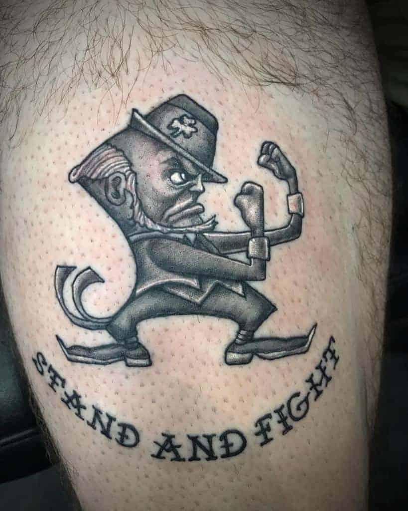 Irish Stand And Fight Tattoo