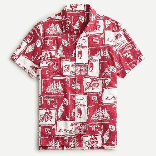 J. Crew Camp Collar Harbor Shirt