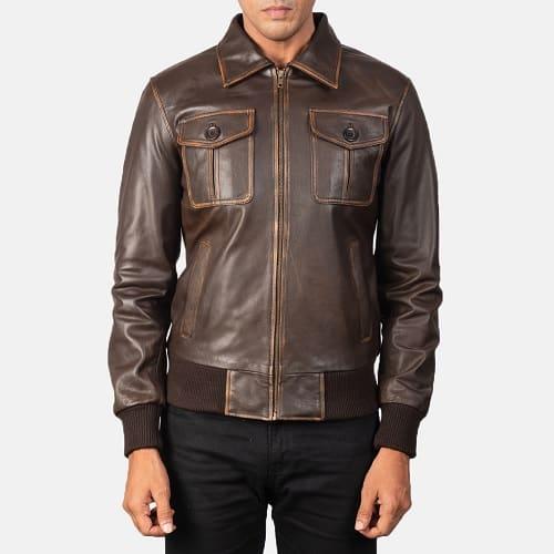 Jacket Maker Aaron Brown Zipped Up