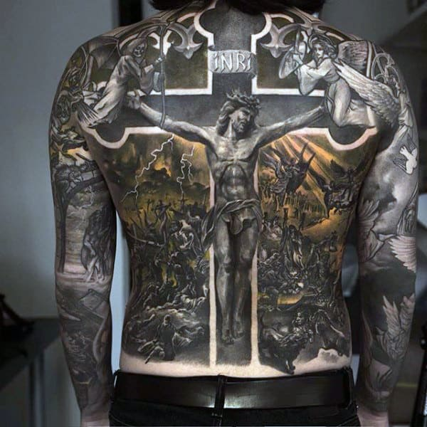 100 religious tattoos for men sacred design ideas. Black Bedroom Furniture Sets. Home Design Ideas