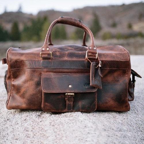 Kodiak Leather 60L Weekender Duffel