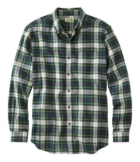 L.L. Bean Men's Scotch Plaid Flannel Shirt